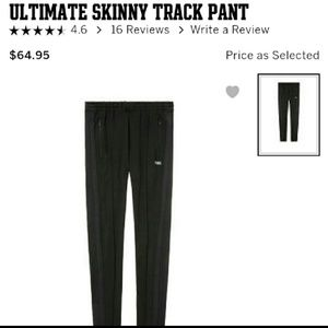 Pink ultimate skinny track pants